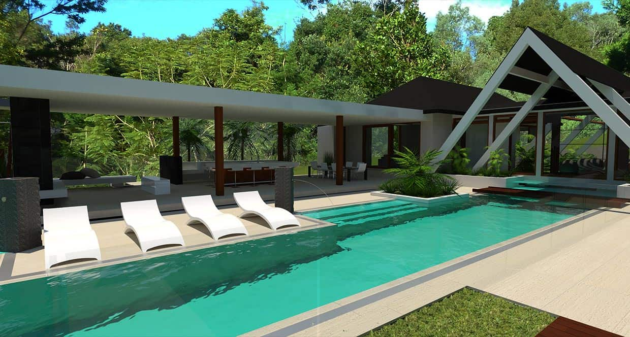 Water house chris clout design for Pool design gold coast