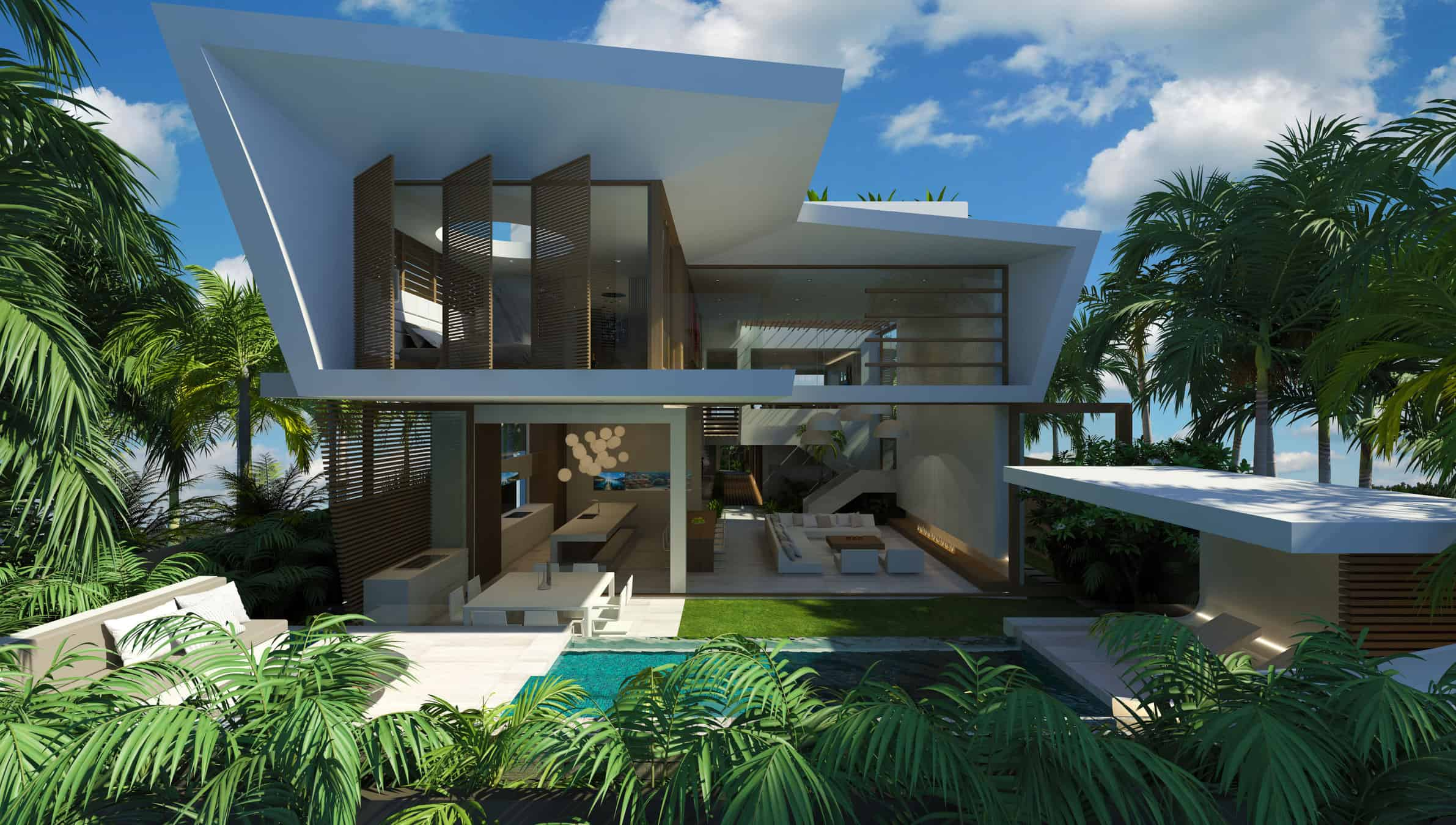 Modern beach house chris clout design for Beach style home plans
