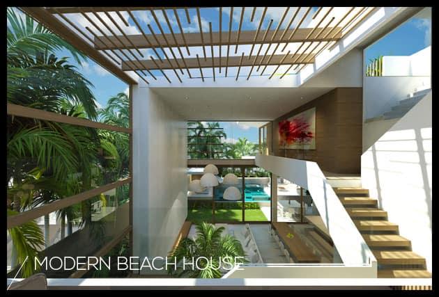 Modern beach house chris clout design for Beach house designs gold coast