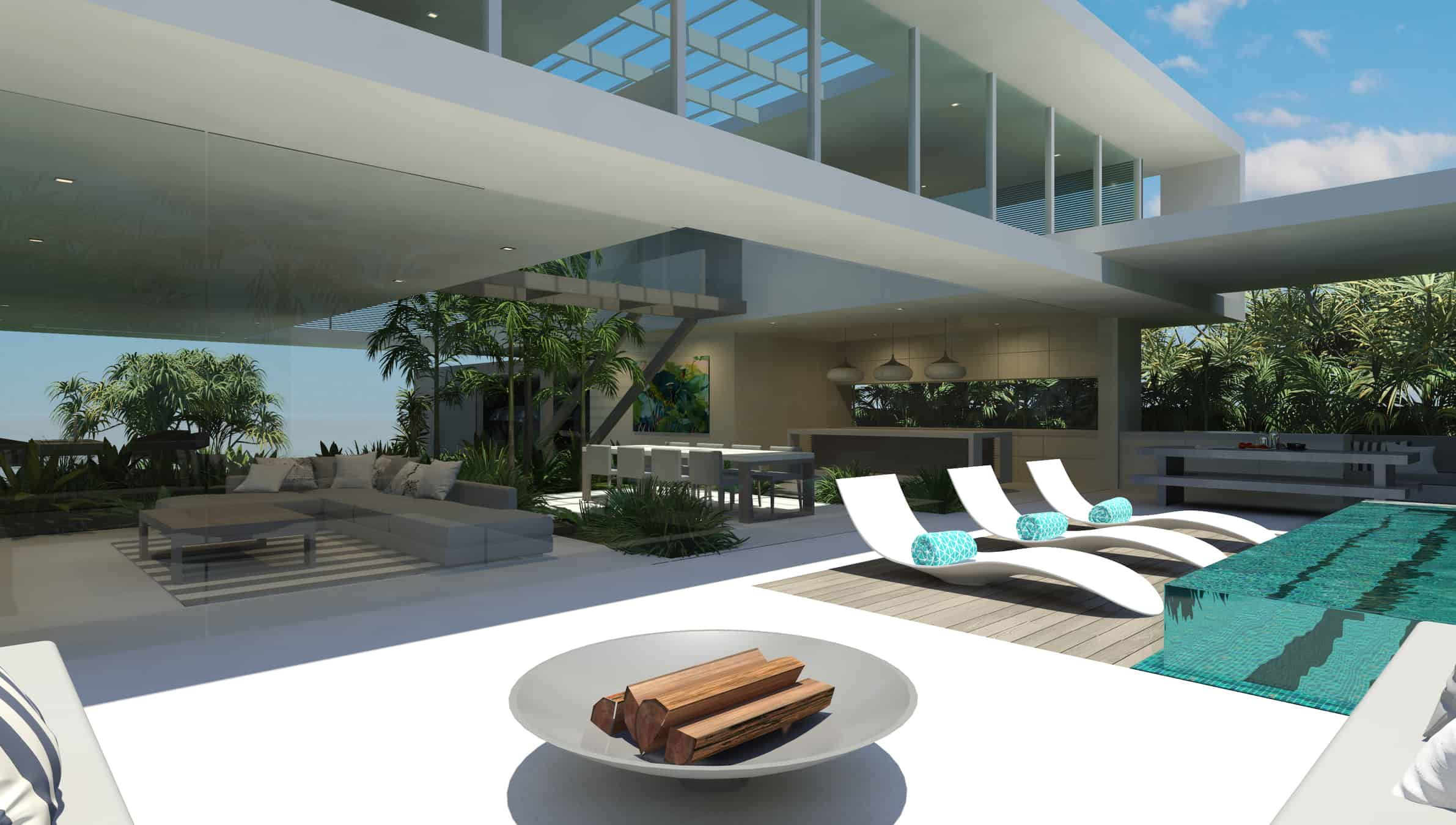 Chris Clout Design: Its Contemporary Square Beach Style